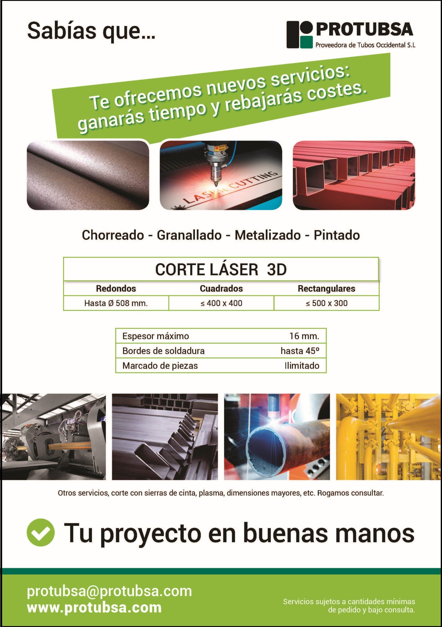 Corte Laser - Chorreado - Granallado - Metalizao - Pintado